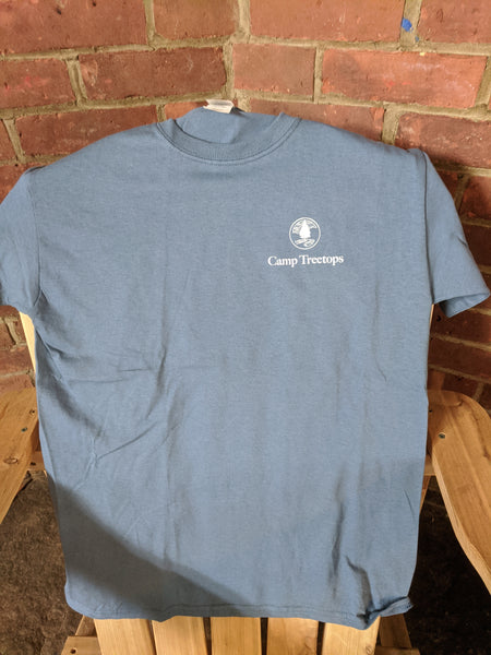 Camp Treetops Steel Blue T-Shirt [Youth]