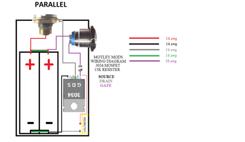 Single 18650 Box Mod Wiring Diagram With Mosfet Okrt10