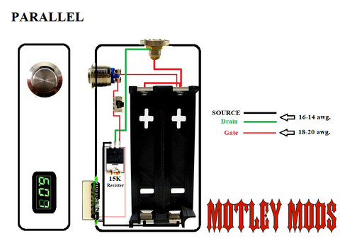 box mod wiring diagrams motley mods llc rh motleymods com vape box mod wiring diagram unregulated series box mod wiring diagram