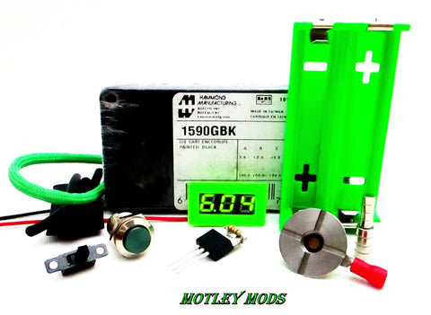 Box Mod Kit 1590G Green