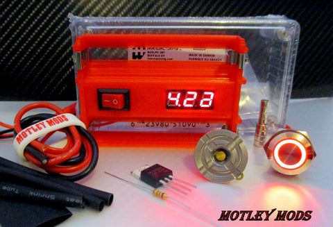 Box Mod Kit 1591B Volt/Switch - Motley Mods - 1
