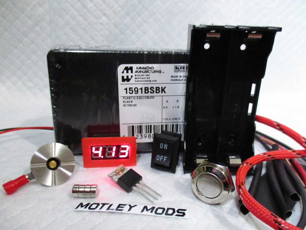 Box Mod Kit 1591B Black,Red - Motley Mods - 1