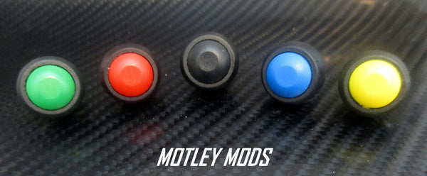 12mm Push Button Switch Domed - Motley Mods - 1