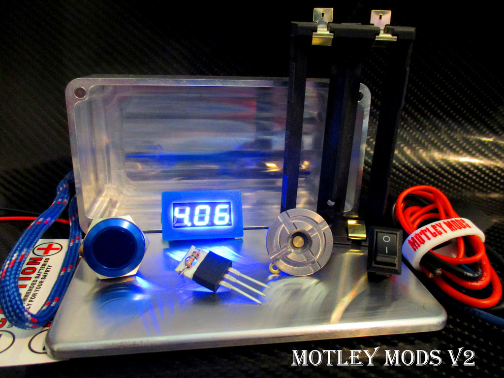 Box Mod kit CNC B-Blue - Motley Mods - 1