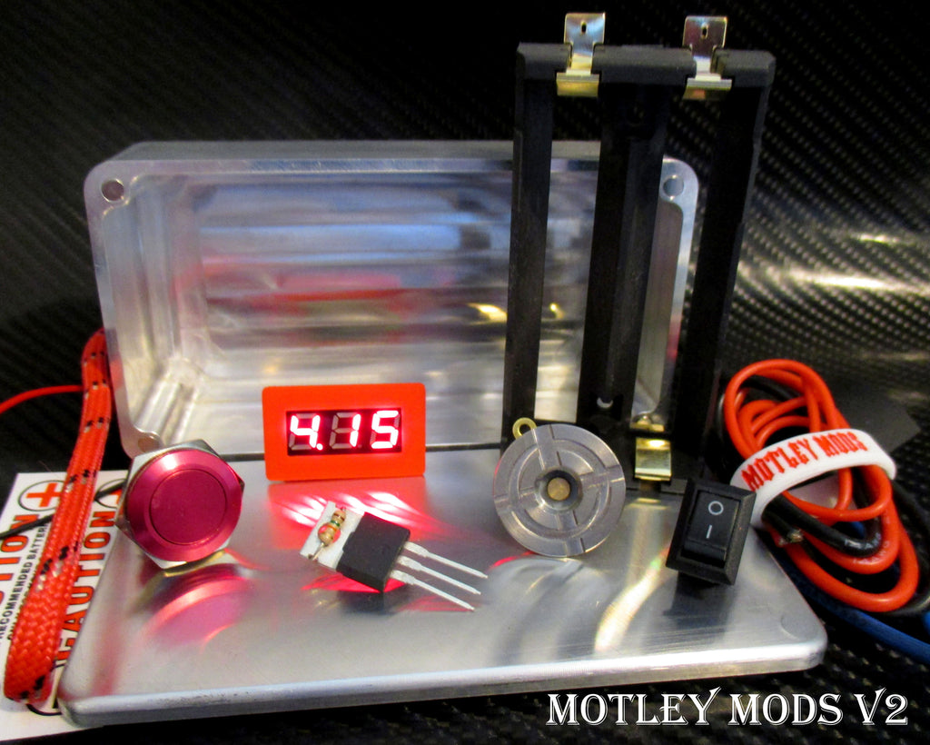 Box Mod kit CNC B-Red - Motley Mods - 1