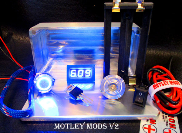 Box Mod kit CNC B-Blue Led - Motley Mods - 1