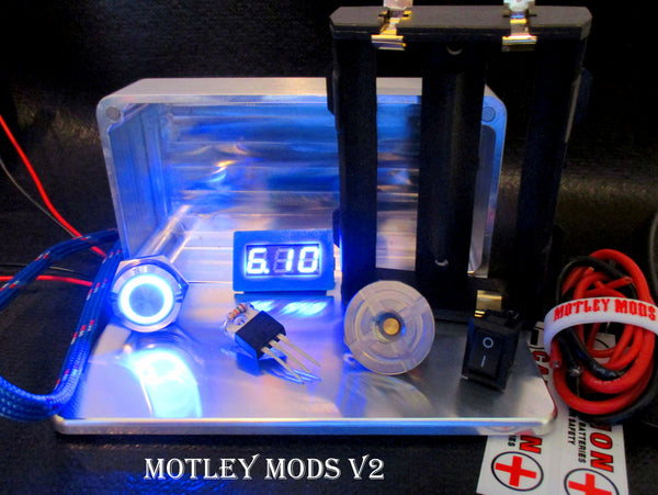 Box Mod kit CNC B,26650 Blue Led - Motley Mods - 1