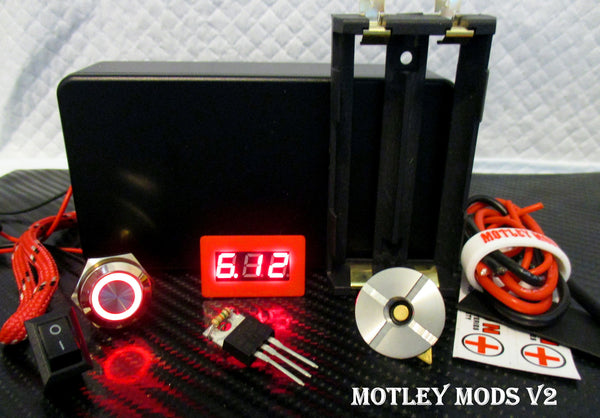 Box Mod kit CNC B-Black,Led - Motley Mods - 1