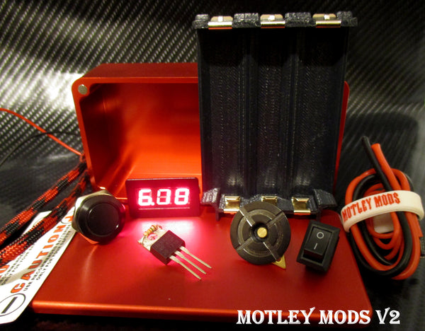 Box Mod kit CNC B-Triple,Red - Motley Mods - 1