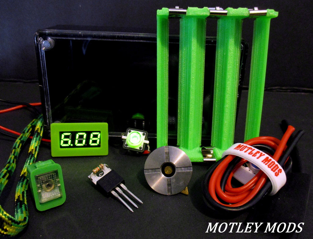 Box Mod Kit 1591B Green Triple - Motley Mods - 1
