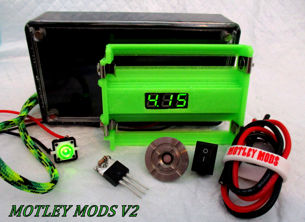 Box Mod Kit 1591B volt-sled green - Motley Mods - 1