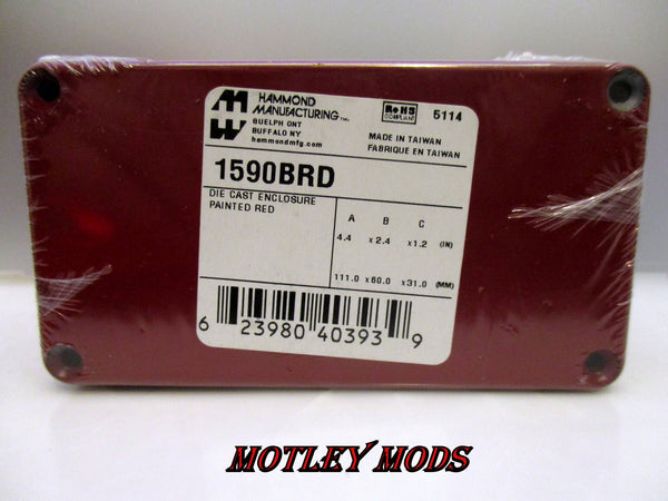 Box Mod kit 1590B Red/Black - Motley Mods - 2