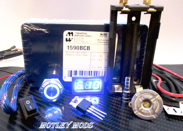 Box Mod Kit 1590B Blue - Motley Mods - 1