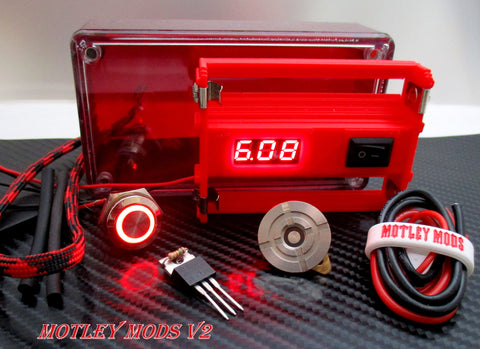 Box Mod kit 1591 RED - Motley Mods - 1