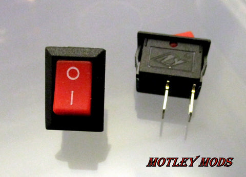 Mini Rocker Switch,Red - Motley Mods - 1