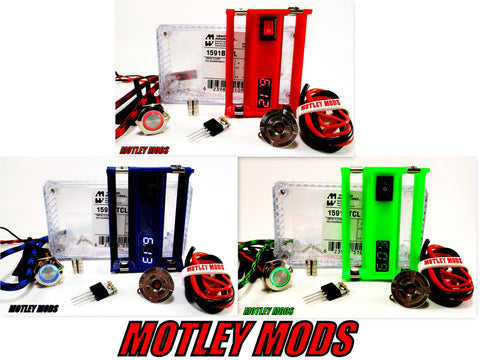 Diy Kit,1590B,18650 Sled,Voltmeter,510 Connector,Motley Mods,Fast Shipping!