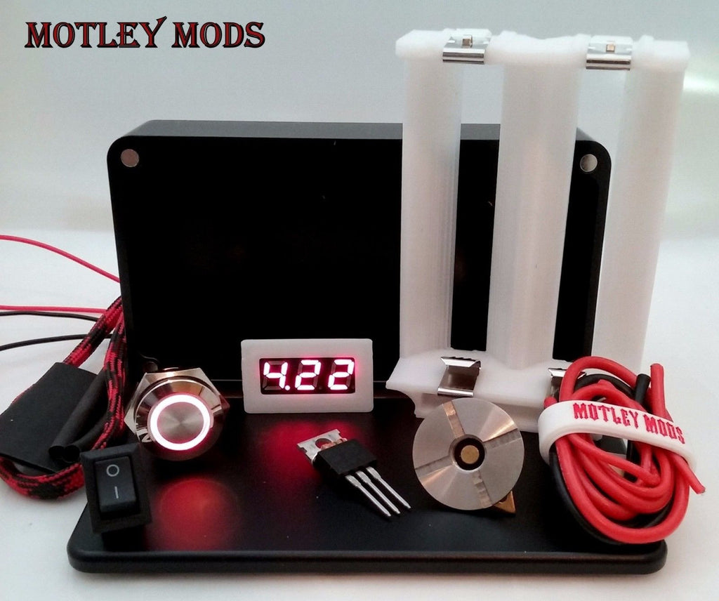 Box Mod kit CNC B-26650,White - Motley Mods - 1