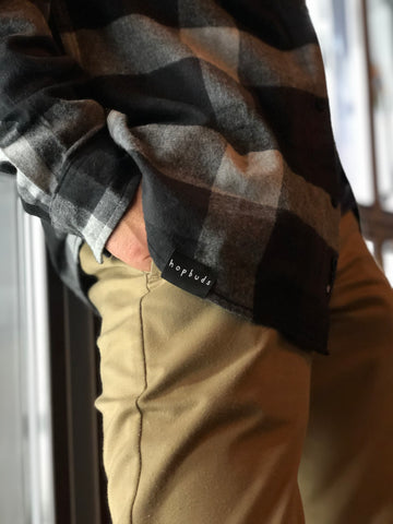 HopBuds Flannel (Black/Grey)
