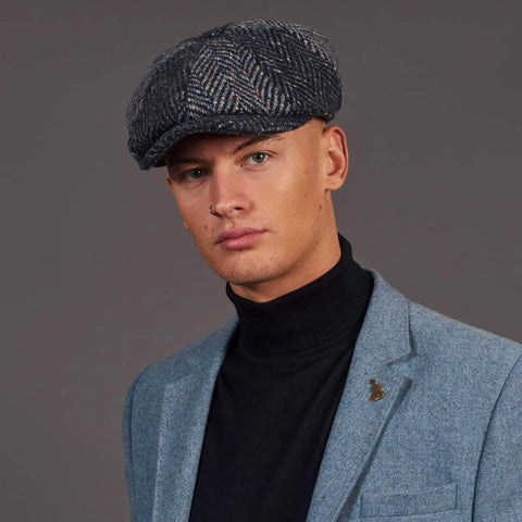 Failsworth 8-Piece Bakerboy Donegal Tweed Hat - Multi-Coloured Fleck £25.00