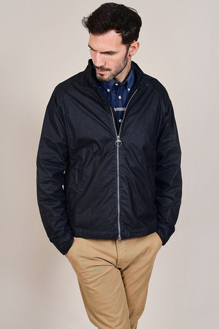 Barbour Ender Wax Royal Navy Cotton Jacket S