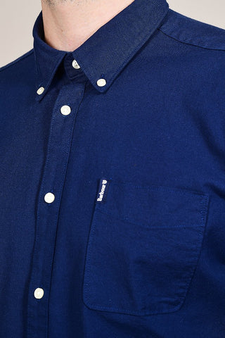 Barbour Flemington Inky Blue Cotton Shirt S