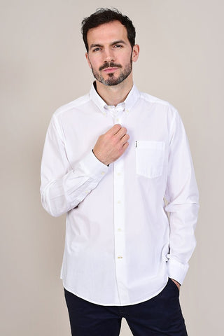 Barbour Headshaw White Cotton Shirt S