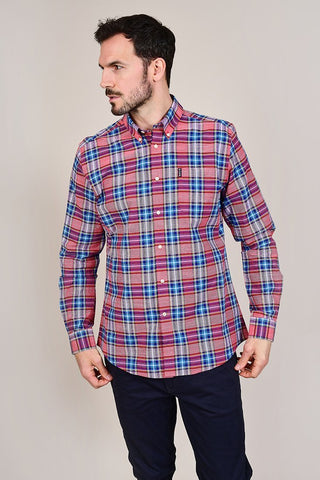 Barbour Highland Red Check Tailored Shirt
