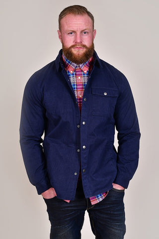 Barbour Mortan Inky Blue Overshirt S