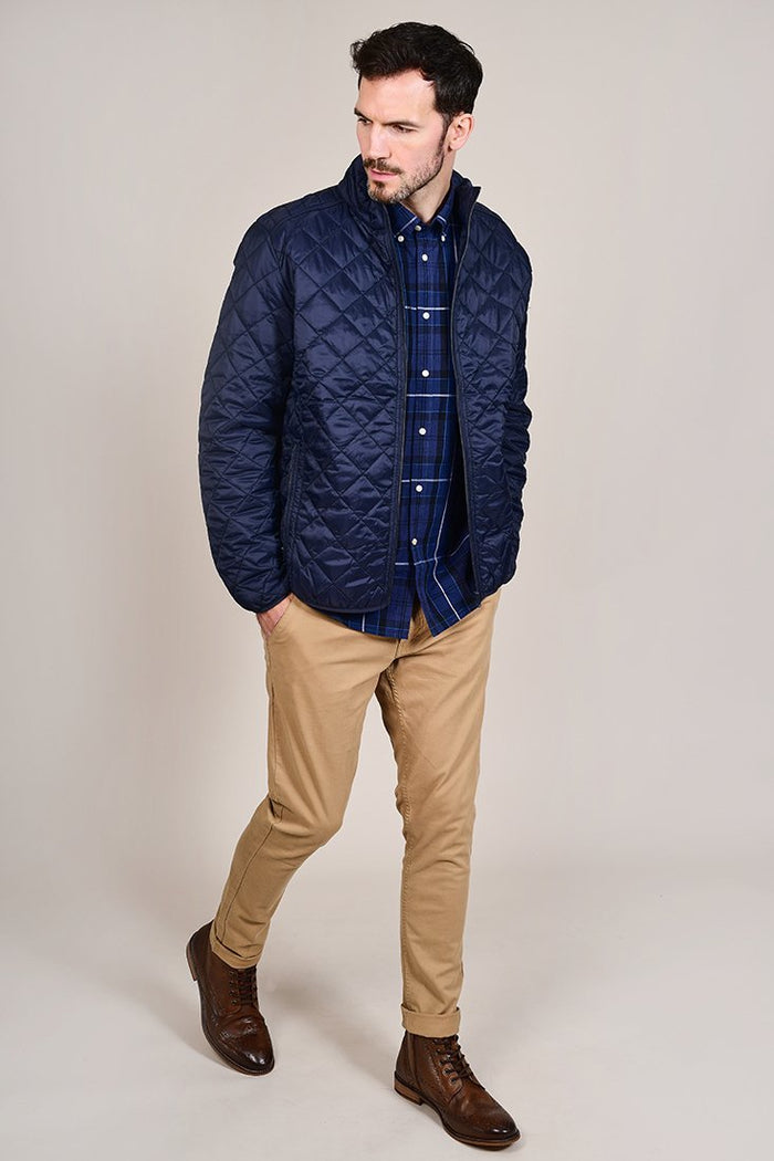Barbour Sandwood Inky Blue Cotton Check Shirt