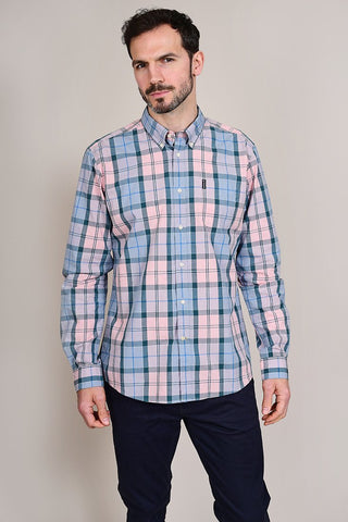 Barbour Sandwood Pink Cotton Check Shirt S