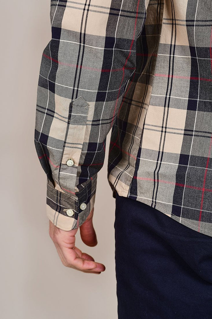 Barbour Sandwood Stone Cotton Check Shirt