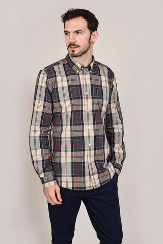 Barbour Sandwood Stone Cotton Check Shirt S