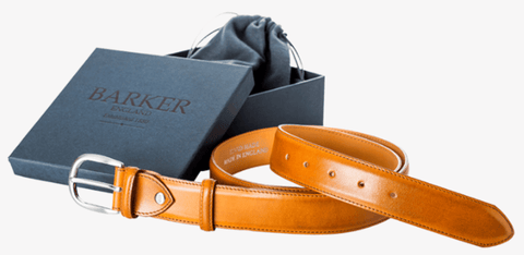 Barker Shoes Plain Belt - Cedar Calf