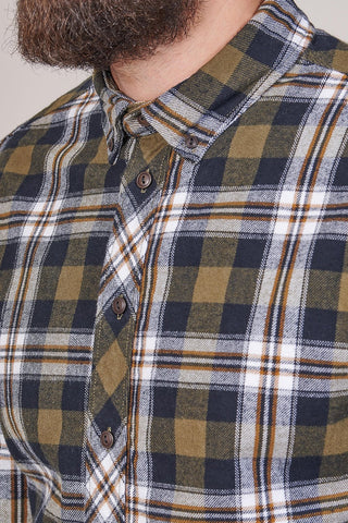 Blend Blend Cotton Check Shirt In Olive £30.00