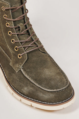 Blend Blend Forest Green Moc Toe Suede Boots £69.99