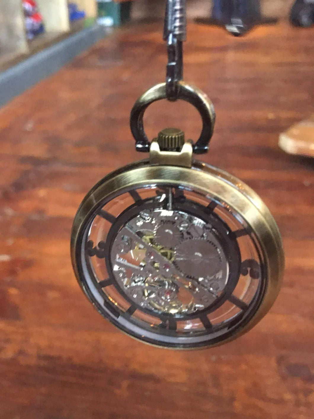 Master Debonair Bronze Case Steampunk Pocket Watch With Chain £35.00