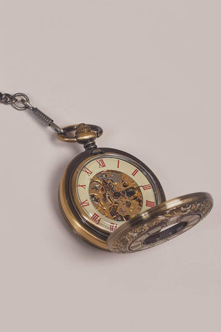 Bronze Double Opener Half Hunter Pocket Watch