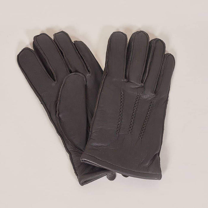 Brown Leather Gloves S
