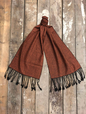 Burnt Orange Tweed Scarf