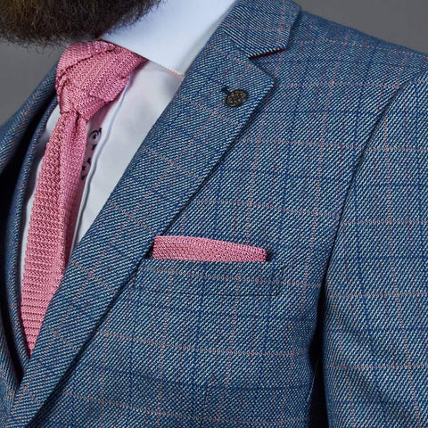 Candy Pink Knitted Silk Knitted Tie
