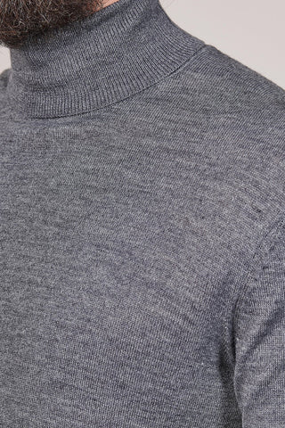 Casual Friday Charcoal Roll Neck
