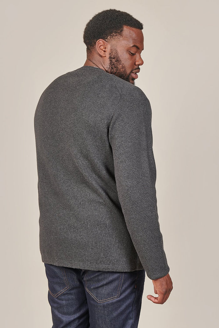 Casual Friday Casual Friday Crewneck Cotton Jumper In Charcoal £31.49