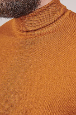 Casual Friday Tan Roll Neck