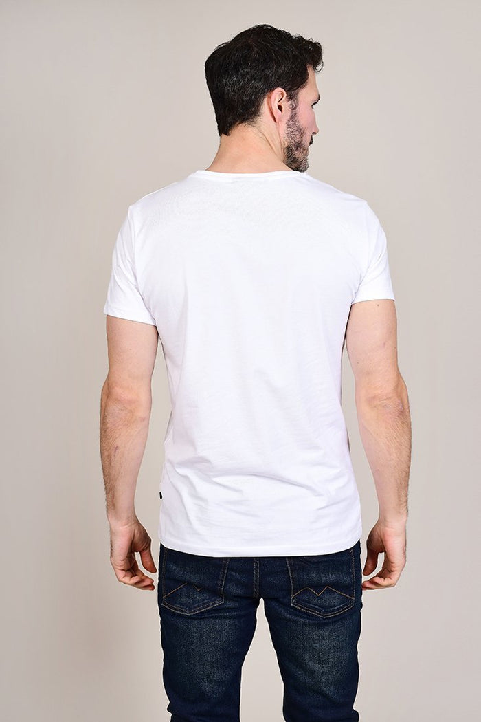 Casual Friday White Crew Neck Cotton T-Shirt