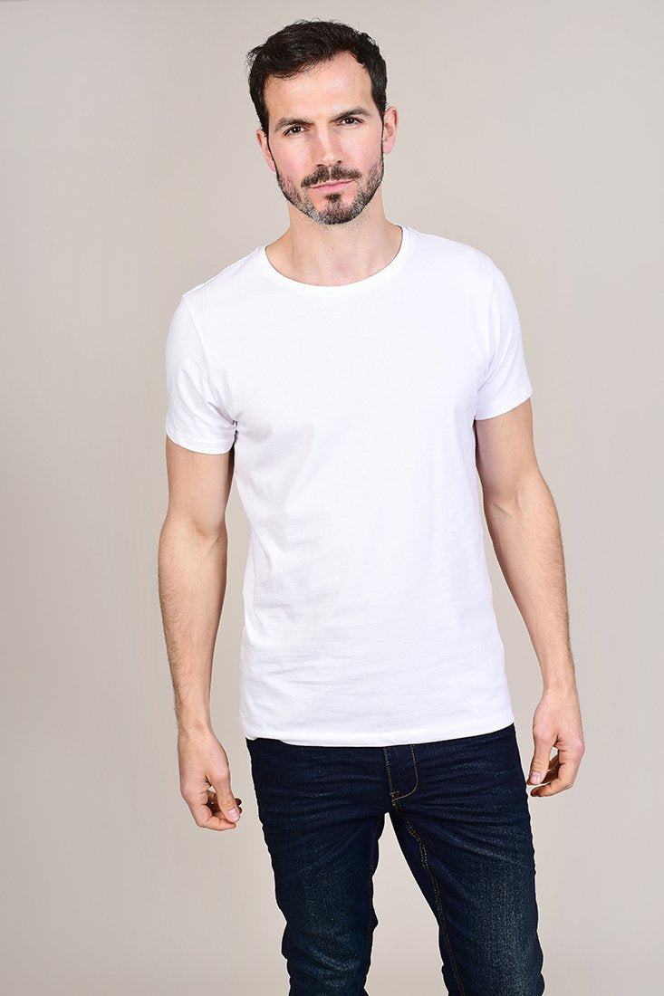 Casual Friday White Crew Neck Cotton T-Shirt S