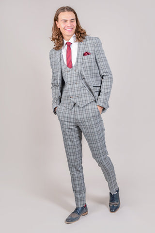 Cavani Callie Grey Checked Blazer 34R