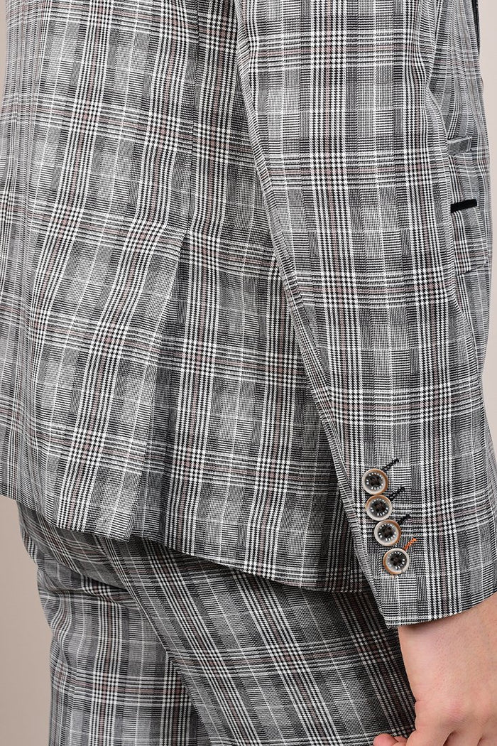 Cavani Callie Grey Checked Blazer