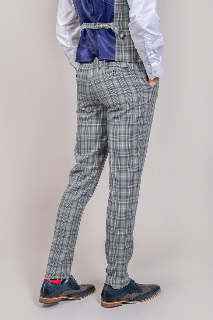 Cavani Callie Grey Checked Trousers