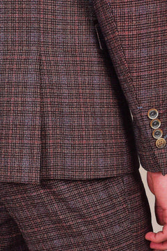 Cavani Cavani Carly Wine Check Tweed Style Blazer £47.50