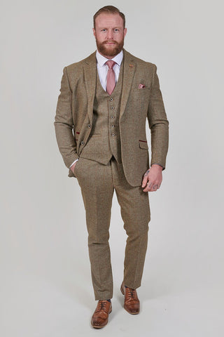 Cavani Gaston Sage Check Tweed Style 3 Piece Suit cavani-gaston-sage-check-tweed-style-blazer / cavani-gaston-sage-check-tweed-style-waistcoat / cavani-gaston-sage-check-tweed-style-trousers